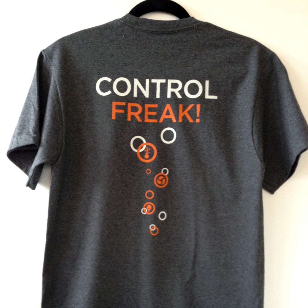 Control Freak T Shirt Gray Neptune Systems