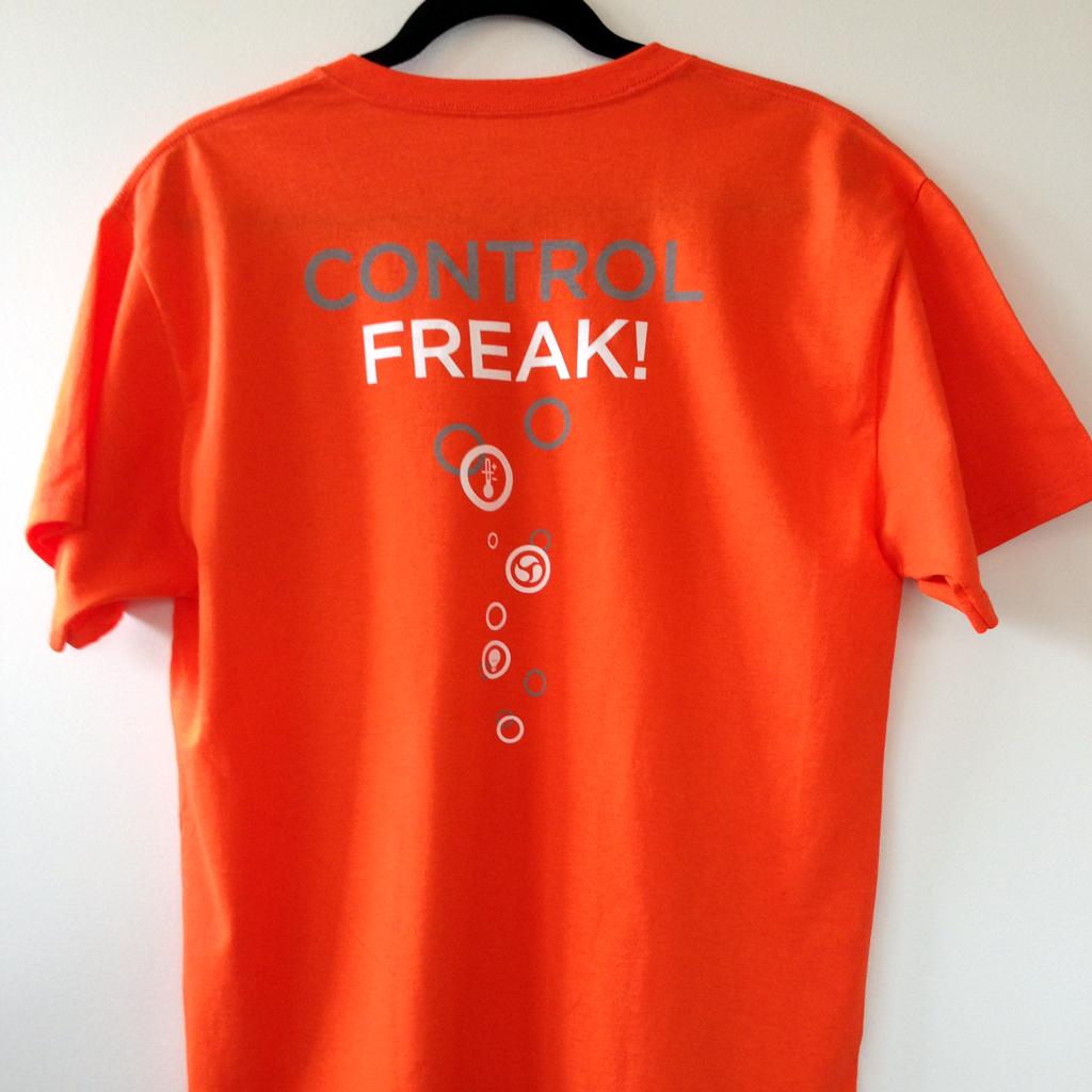 Control Freak T Shirt Orange Neptune Systems