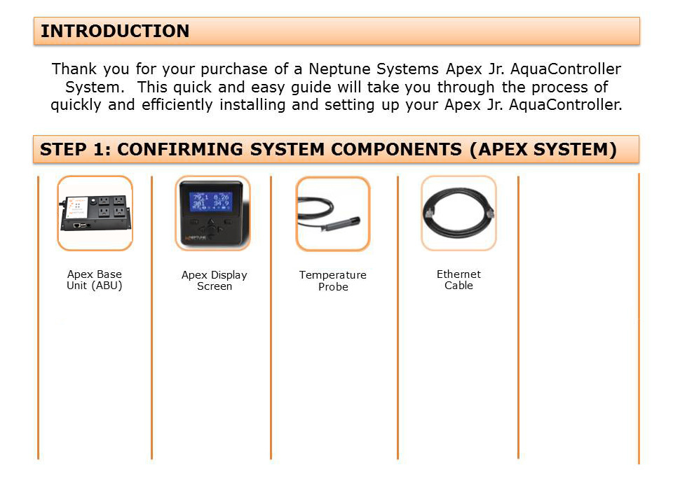 get started guide apex jr neptune systems rh neptunesystems com Apex AquaController Jr neptune apex jr manual
