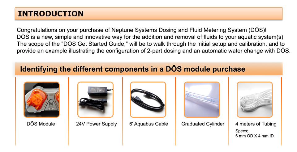 Get Started DŌs Dosing And Fluid Metering System